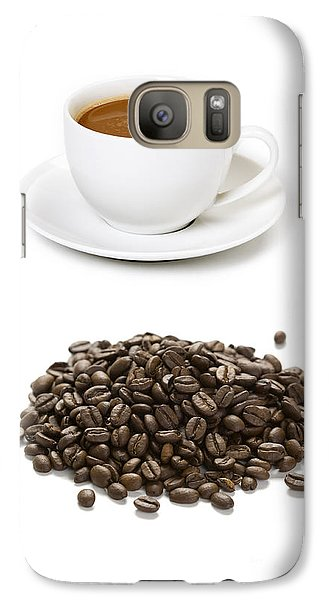 Galaxy Case featuring the photograph Coffee Cups And Coffee Beans by Lee Avison