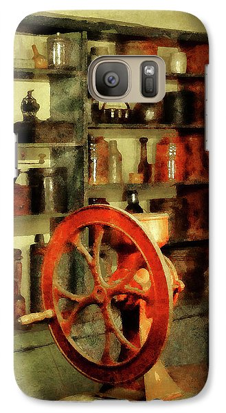 Galaxy Case featuring the photograph Coffee Grinder And Canister Of Sugar by Susan Savad