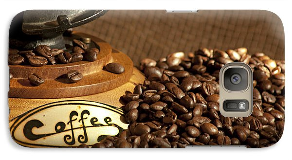 Galaxy Case featuring the photograph Coffee Grinder With Beans by Gunter Nezhoda