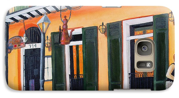 Galaxy Case featuring the painting Coffee Pot Restaurant-french Quarter by June Holwell