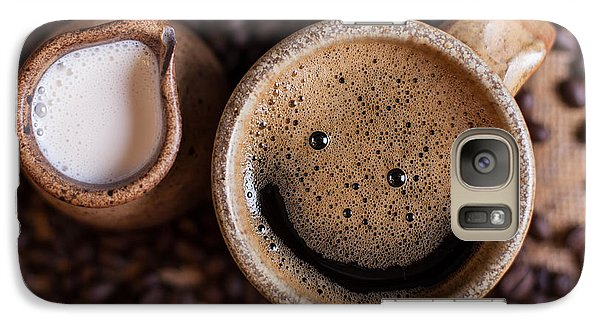 Galaxy Case featuring the photograph Coffee With A Smile by Aaron Aldrich