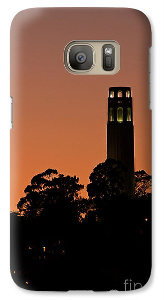 Galaxy Case featuring the photograph Coit Tower Sunset by Kate Brown