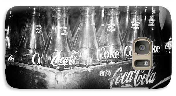 Galaxy Case featuring the photograph Cola Crate by Yvonne Emerson AKA RavenSoul