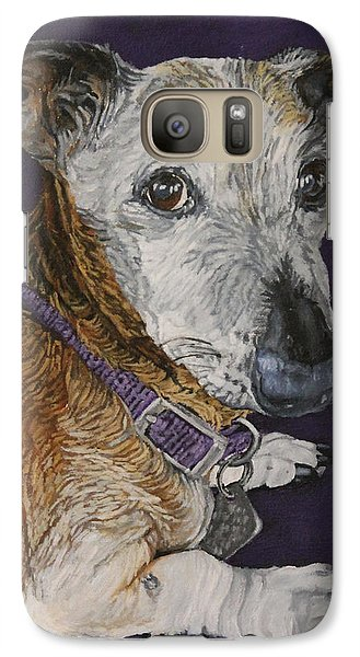 Galaxy Case featuring the painting Colbi by Wendy Shoults