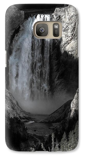 Galaxy Case featuring the photograph Cold Cascade  by David Andersen