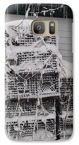 Galaxy Case featuring the photograph Cold Lobster Trap by Robert Nickologianis