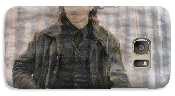 Galaxy Case featuring the painting Cold Mountain by Vikram Singh
