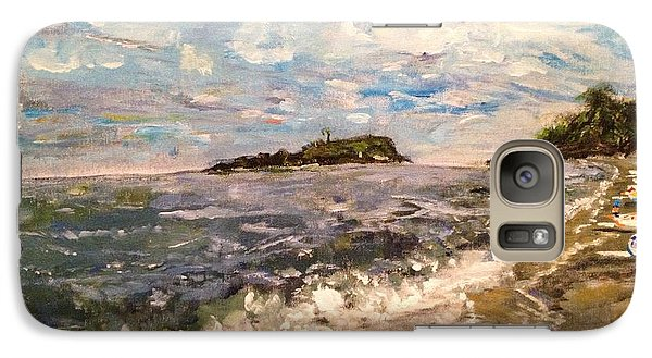 Galaxy Case featuring the painting Cold Sea On A Sunny Day by Belinda Low