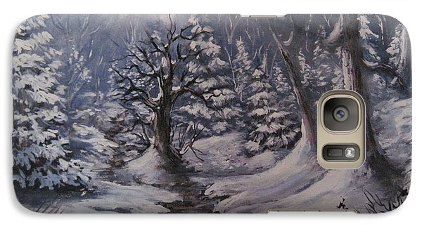 Galaxy Case featuring the painting Cold Snap by Megan Walsh