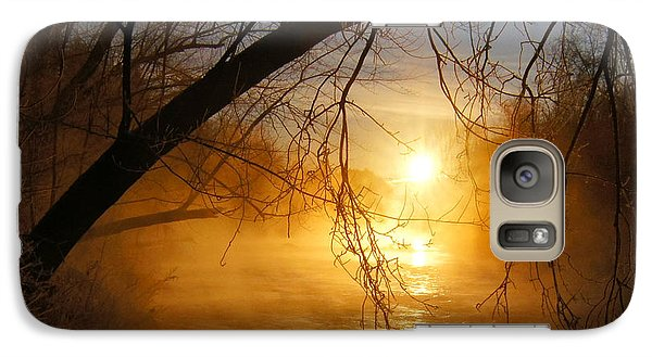 Galaxy Case featuring the photograph Cold Water Sunrise by Jeremy Farnsworth