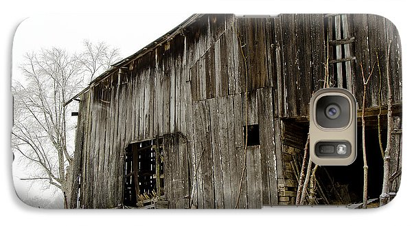 Galaxy Case featuring the photograph Cold Winter At The Barn  by Wilma  Birdwell