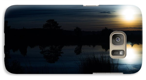 Galaxy Case featuring the photograph Cold Winter Morning by Angela DeFrias