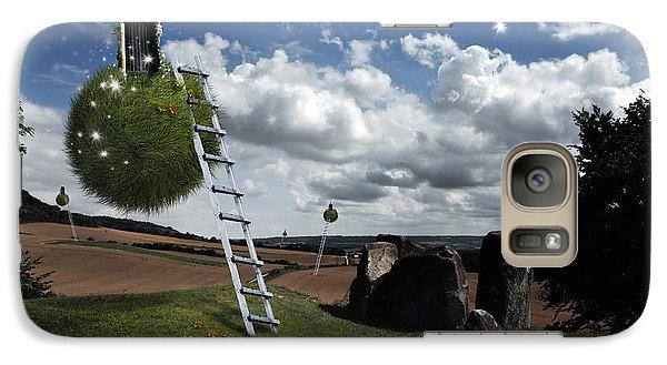 Galaxy Case featuring the photograph Coldrum Longbarrow  by Mariusz Zawadzki