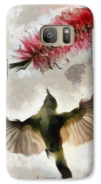 Galaxy Case featuring the painting Colibri by Georgi Dimitrov