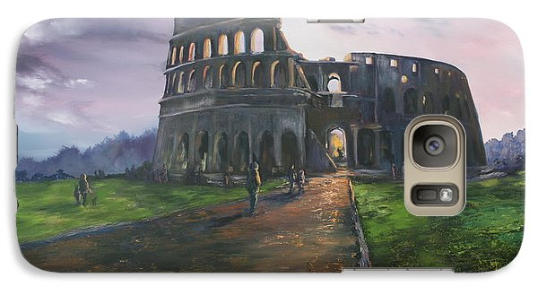 Galaxy Case featuring the painting Coliseum Rome by Jean Walker