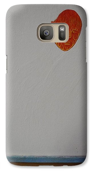 Galaxy Case featuring the painting Collaboration by Steve  Hester