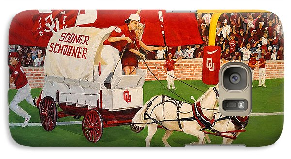 Galaxy Case featuring the painting College Football In America by Alan Lakin