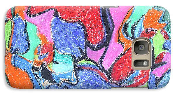Galaxy Case featuring the painting Collision Course by Esther Newman-Cohen