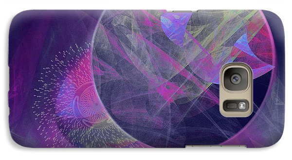 Galaxy Case featuring the digital art Collision by Victoria Harrington