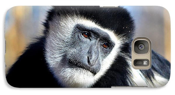 Galaxy Case featuring the photograph Colobus Contemplation by Deena Stoddard