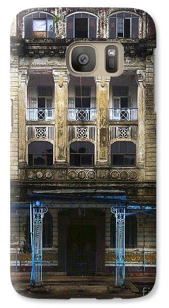 Galaxy Case featuring the photograph Colonial Facade Merchant Street 8th Ward Central Yangon Burma by Ralph A  Ledergerber-Photography