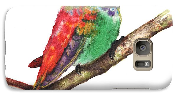 Galaxy Case featuring the drawing Color Bird 9 by Anthony Burks Sr