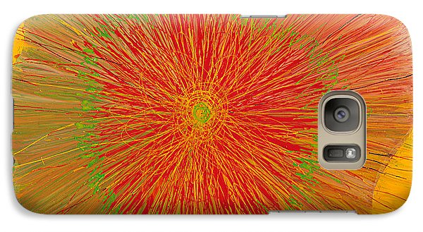 Galaxy Case featuring the painting Color Burst 4 by Anna Skaradzinska