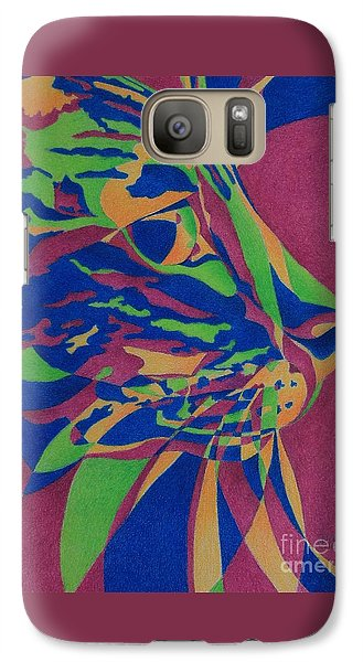 Galaxy Case featuring the painting Color Cat I by Pamela Clements