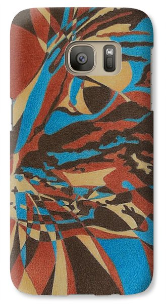 Galaxy Case featuring the painting Color Cat II by Pamela Clements