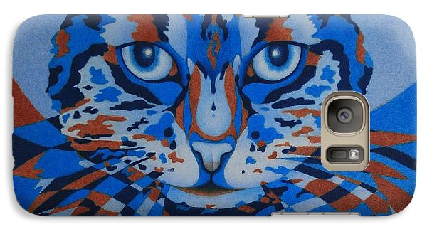 Galaxy Case featuring the painting Color Cat IIi by Pamela Clements