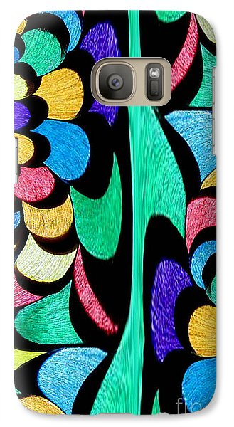 Galaxy Case featuring the digital art Color Dance by Rafael Salazar