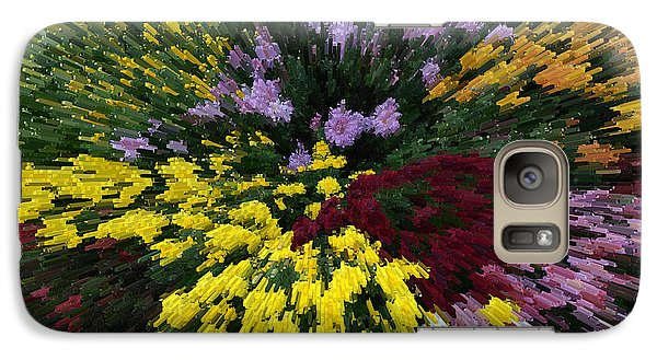 Galaxy Case featuring the photograph Color Explosion by Wanda Brandon