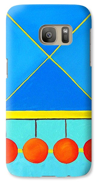 Galaxy Case featuring the painting Color Geometry - Square by Carolyn Goodridge