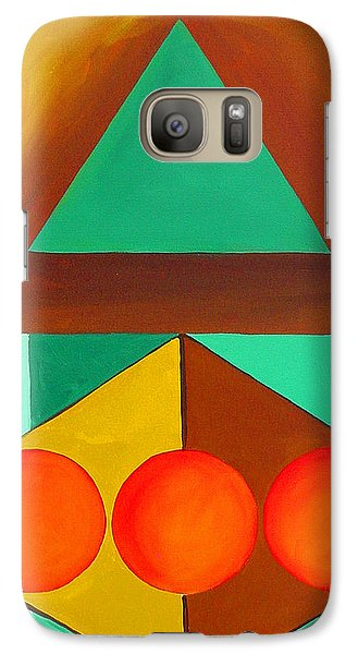 Galaxy Case featuring the painting Color Geometry - Triangle by Carolyn Goodridge