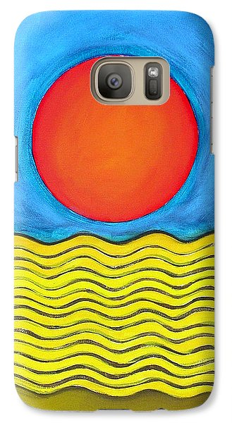 Galaxy Case featuring the painting Color Geometry - Whole by Carolyn Goodridge