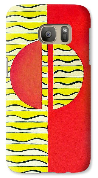 Galaxy Case featuring the painting Color Geometry-halves by Carolyn Goodridge