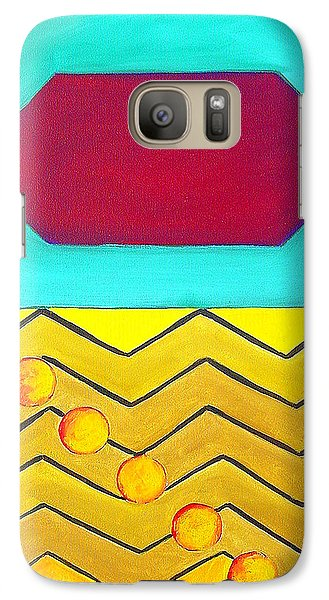Galaxy Case featuring the painting Color Geometry - Hexagon by Carolyn Goodridge