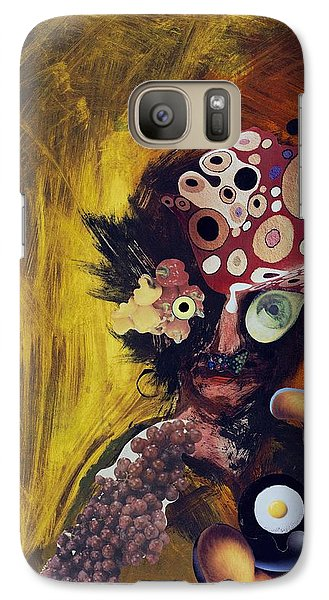 Galaxy Case featuring the mixed media Color Intoxication by Douglas Fromm