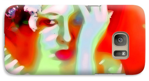 Galaxy Case featuring the photograph Color Me Blue by Jessica Shelton