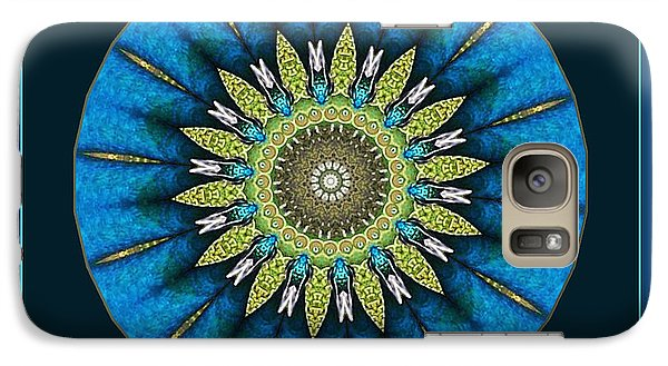 Galaxy Case featuring the photograph Color Me Peacock by Barbara MacPhail