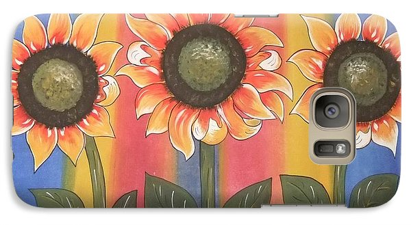 Galaxy Case featuring the painting Color Me Sunny by Cindy Micklos