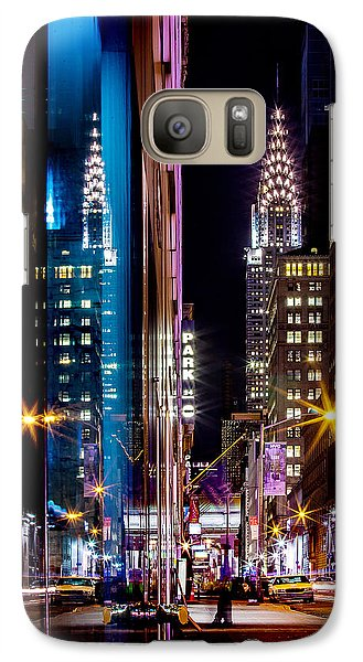 Chrysler Building Galaxy S7 Case - Color Of Manhattan by Az Jackson