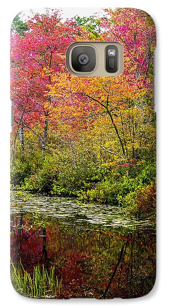 Galaxy Case featuring the photograph Color On The Water by Mike Ste Marie