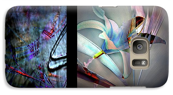 Galaxy Case featuring the photograph Color Palete Of A Pink And Blue Lily by Irma BACKELANT GALLERIES