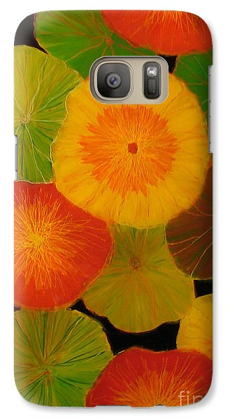 Galaxy Case featuring the painting Color Splash 5 by Anna Skaradzinska