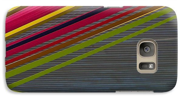 Galaxy Case featuring the photograph Color Strips by Stuart Litoff