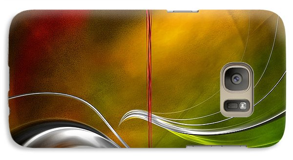 Galaxy Case featuring the digital art Color Symphony With Red Flow 2 by Johnny Hildingsson