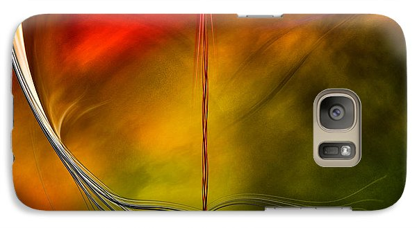Galaxy Case featuring the digital art Color Symphony With Red Flow 3 by Johnny Hildingsson