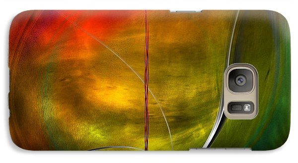Galaxy Case featuring the digital art Color Symphony With Red Flow 4 by Johnny Hildingsson