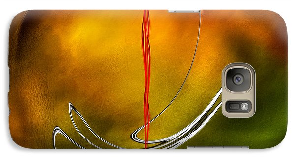 Galaxy Case featuring the digital art Color Symphony With Red Flow 6 by Johnny Hildingsson